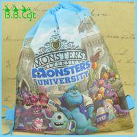 beach universities - Monsters University Cartoon Kids Drawstring Printed Backpack beach Shopping School Traveling Bags