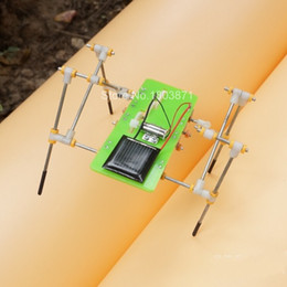 Wholesale-Freeshipping New Version DIY Solar Educational Toys Solar Quadruped Robot Kits Gadgets For Kids Gifts