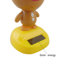 Wholesale new cool bear educational energy solar toys for car decoration solar dancing toys for kids and grownups