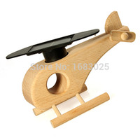 air powered plane - Brand New Wooden Solar Power Air Plane Propeller Rotating Decoration Craft Toy Xmas Gift