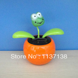 Wholesale Per Magic Cute Frog Top Dancing Novelty Solar Toy Solar Gift