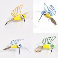 solar Hummingbirds - new Creative Solar Hummingbird Flying Fluttering Birds Resin Home and garden Decoration