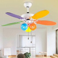 Wholesale lovely kids ceiling fan colours modern ceiling fan for Kids room ceiling fan with led light children light