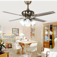 Wholesale quot European Traditional Simple Fashion Iron And Frosted Glass Ceiling Fans Rope Switch pc Fan Blades