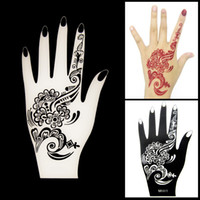 Wholesale New Henna Hand Tattoo Stencil Flower Lace Glitter Airbrush Mehndi Indian Henna Tatoo Large Templates Stencils For Painting