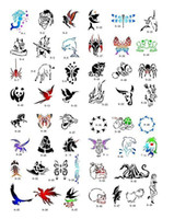 Wholesale DHL Temporary Airbrush Tattoo Stencil Template Booklet with designs for glitter tattoo kits supplies