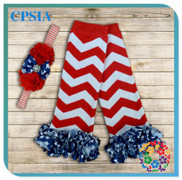 Wholesale New Arrival Flag Printed Children Accessories Kids Leggings Winter Warm Baby Animated Leg Warmers Sock with Headbands sets