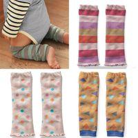 Cheap Wholesale-1PC Baby Boy Girls Infant Toddler Kids Dot Stripe Leggings Socks Leg Warmers Casual Spring Autumn Wear 4 Colors
