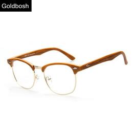 Wholesale-eyeglasses men brand optical frames woman half rim eye glasses female metal frame Plain mirror vintage spectacle frames myopia