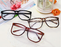 big nerd glasses - Big Oversized Tortoise Shell Retro Nerd Geek Clear Lens Plain Glasses Two color