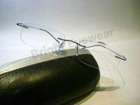 beta titanium eyeglasses frame - Bestseller lightest flexible BN rimless non screw g beta pure titanium eyeglasses frame brand optical spectacle frame glasses