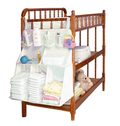 Wholesale MM016 Hanging Shelf Baby Diaper Bags Organizer Nappy Nursery Clothes Storage Closet Furniture Accessories Supplies Products