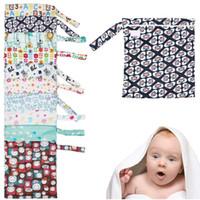 Wholesale pc Baby Nappy Wet Dry Cloth Zipper Waterproof Diaper Bag Tote Reusable Washable KS0189