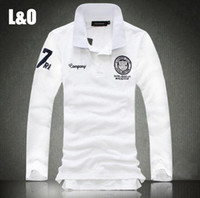 Wholesale New Spring Men Long Sleeve Polo Shirt Men s Fashion Leisure Brand Casual Polo Shirt and Male Dress Plus Size M XL