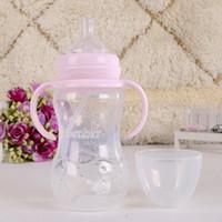 baby feeder cup - ml good quality cup wide mouth feeding milk bottle for baby nursing bottle feeder antibiosis safety feeding bottle