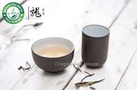 aroma tea cup - Chinese Zisha Clay Glazed Dark Brown Aroma Tea Cup Set