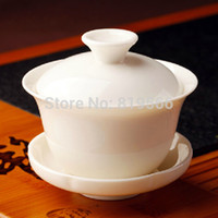 bone china tea cup - Hot Chinese Kung Fu Ceramic Gaiwan White Porcelain Tea Cup Bone China Set Drinkware Service