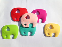 baby butter - NEW Very Large Butter Yellow Elephant Silicone Pendant or Teether baby can chew necklaces
