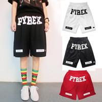 Wholesale Fashion summer basketball Pyrex shorts running men gym mens sport casual compression hip hop board black Loose shorts