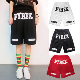 Wholesale Fashion summer basketball Pyrex shorts running men gym mens sport casual compression hip hop board black Loose shorts
