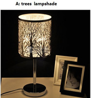 Wholesale Promotion DIA18cm Decoration Trees Lampshade Desk Table Lamps Night Lights Lighting for Bedroom Living Room Office