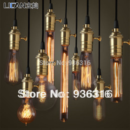 Wholesale E27 v v w Copper lamp holder pendant light bulb different type of Edison bulb with copper knob and wire