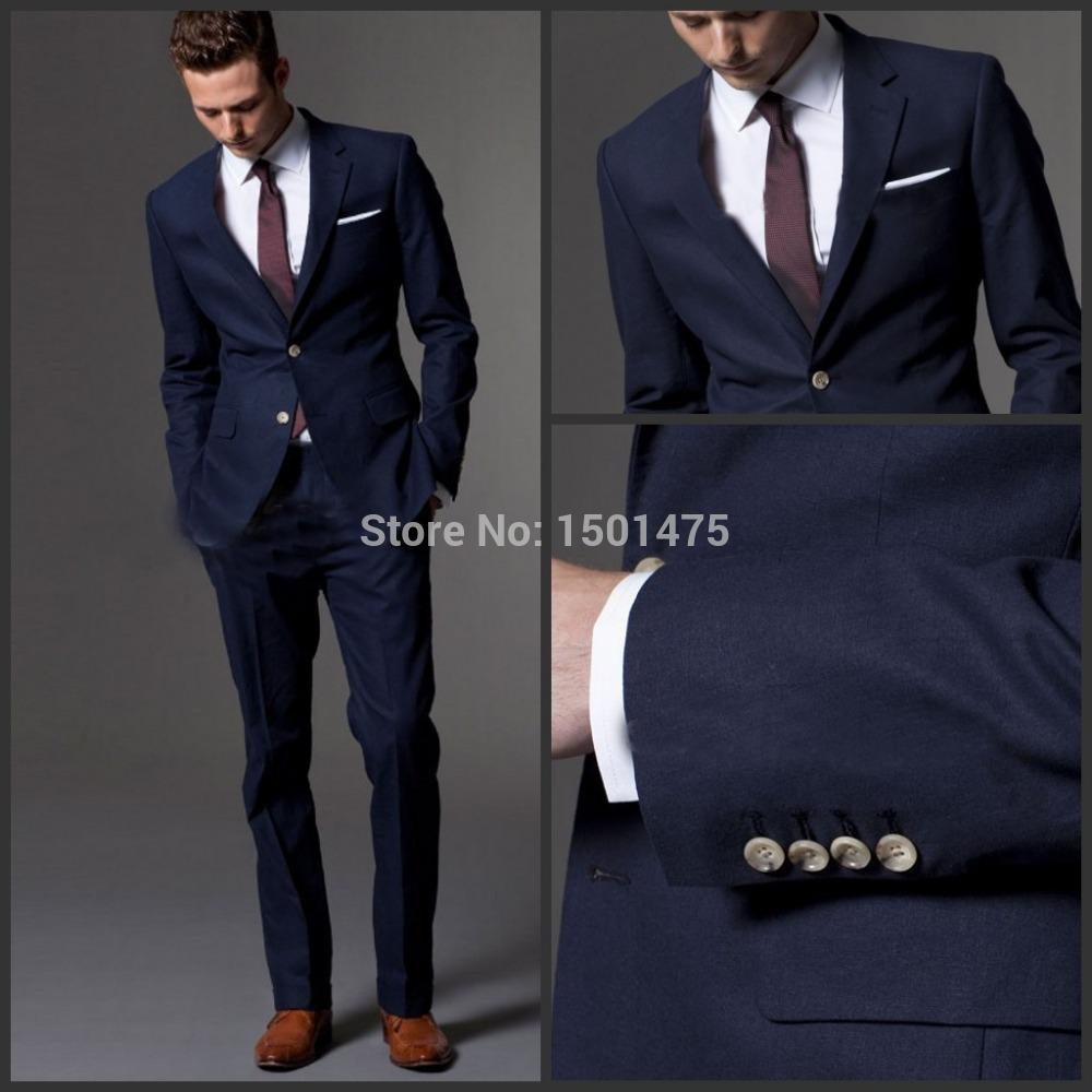 Wholesale Custom Made Dark Blue Men Suit, Tailor Made Suit ...