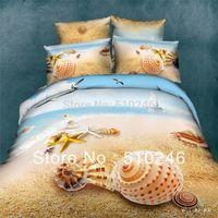 beach style bedding - new arrival cotton sea beach fashion active printed bed sheet set duvet cover set bedding set