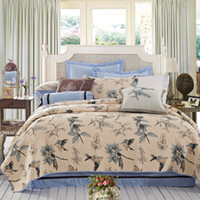 american country quilts - S amp V Luxury American Country birds bedspread fashion home textile cotton quilt bed covers handmade children s bedding sets