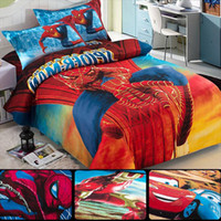 baby duvets - Iron Man car cotton children s cartoon bedding set fit baby boy kids bed sheet set duvet cover set pillowcase