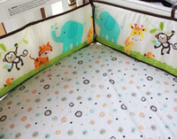 applique quilt kits - New Happy Jungle Animals Friends Baby Crib Bedding set bed kit Applique Embroidered d Quilt Bumpers Fitted Sheet