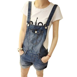 Wholesale New Women s Jeans Jumpsuits Denim overalls for women summer casual straps shorts jumpers women Jumpsuits Rompers G1172