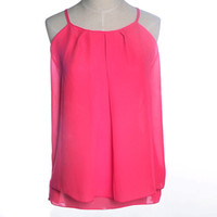 Wholesale Cheap Clothes China Solid Cropped Camisole Chiffon Fashion Women Tank Tops Camisas Ladies Feminina Female Vest Camis Tops