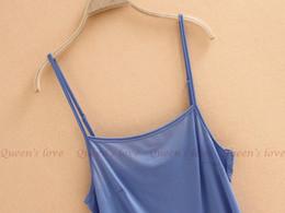 Wholesale Women Camisole Long Tank TOP Spaghetti Strap Basic SLIP Mini DRESS underwear US S M L XL