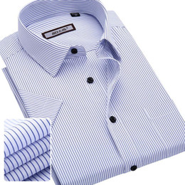 Wholesale summer male casual short sleeve shirt slim formal business shirt short sleeve tooling service