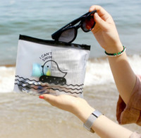 animal print essentials - FD2379 Mobile essentials Zipper Transparent Duck Office Cosmetic Make Up Stationery Bag Pouch