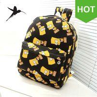 bart phone - Bart Simpson Backpacks Fashion Canvas Backpacks Preppy Style School Backpacks Unisex Schoolbag Back Pack Rucksacks H62