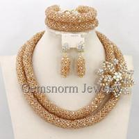 handmade costume jewelry - Luxury Dubai Gold Bridal Jewelry Set African Beads Costume Jewelry Set Handmade Style Beads Set WB155