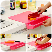 basket board - Plates for Engraving Antibacterial Odor free Kitchen with A Thick Non slip Cutting Board Combo Dish Basket Removable J0211