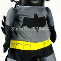 Wholesale Dog Pet Clothes Batman Costume Outfit Cotton Jumpsuit Pants Dree up sizes OZ