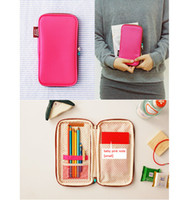 Wholesale Candy Multifunctional Folding Pen Bag Case Holder Storage Pencilcase School Supplies Cosmetic Makeup Travelling Bag