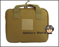 Wholesale Military Tactical Airsoft quot Nylon Multifunctional Portable Outdoor Sports Padded Handgun Pistol Carry Bag Pouch Handbag Case