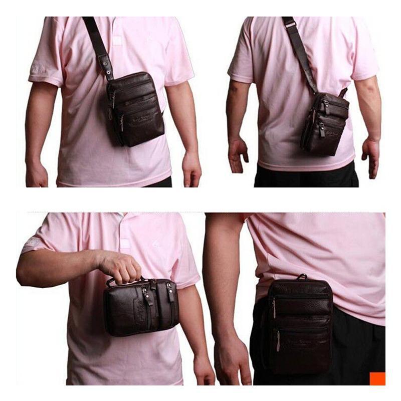 Mini Tablet Pc 7 Inchs Messenger Bags Men Genuine Leather Cowhide ...