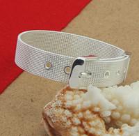 Link, Chain bangle watch sterling - Sterling Silver Jewelry Bangle Bracelet Watch chain Bracelets For Woman Man Charms Silver Bracelets Fashion Jewelry