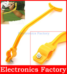 Wholesale-New Swingyde Golf Practice Swing Educational Trainer Guide Gesture Alignment Training Wrist Correct Aid Plane Tool Club cheap golf training tools from golf training tools suppliers