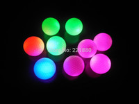 golf ball led - By DHL Promotion Custom Logo LED Constant Shining Golf Ball with Red Blue Green Luminous Glowing Golf Balls