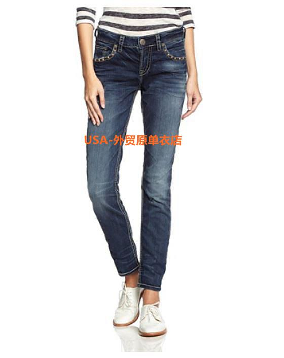 Silver Jeans Women's Suki Surplus High-Rise Elastic Skinny Ladies ...