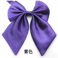 ascot hotel - cm Women Career Cravat Stewardess Bank Hotel Bowknot Bow Tie waiter high quality solid color dress collar flower color