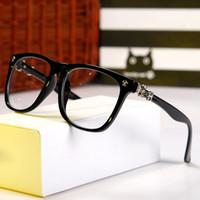 name brand eyeglasses - Men Women Fashion Logo On Frame Name Brand Designer Plain Glasses Optical Eyewear Myopia Eyeglasses Frame Oculos H399