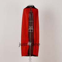 Wholesale For Adults Halloween Vampire Cosplay Black Red Erect Collar Cloak Cape Sides Wear